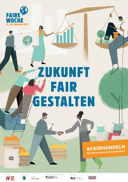 Plakat Faire Woche