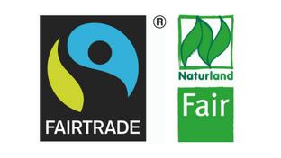 Logos Fairtrade und Naturland